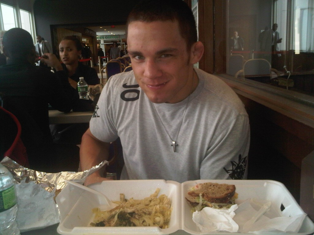 Jake ellenberger grubbin&#8217; down! @ellenbergermma (he&#8217;s new on twitter)