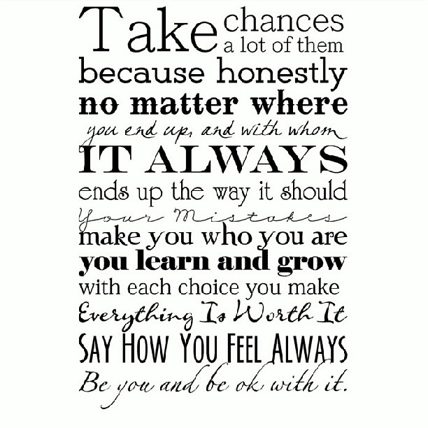 quotes about taking chances - photo #18