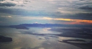 Sunset over Salt Lake. #saltlakecity…