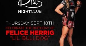 Come celebrate @feliceherrig's birthday tomorrow...