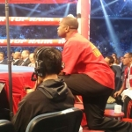 Ringside during the @jessievargasoficial fight-…
