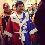 @mannypacquiao walking out for his…
