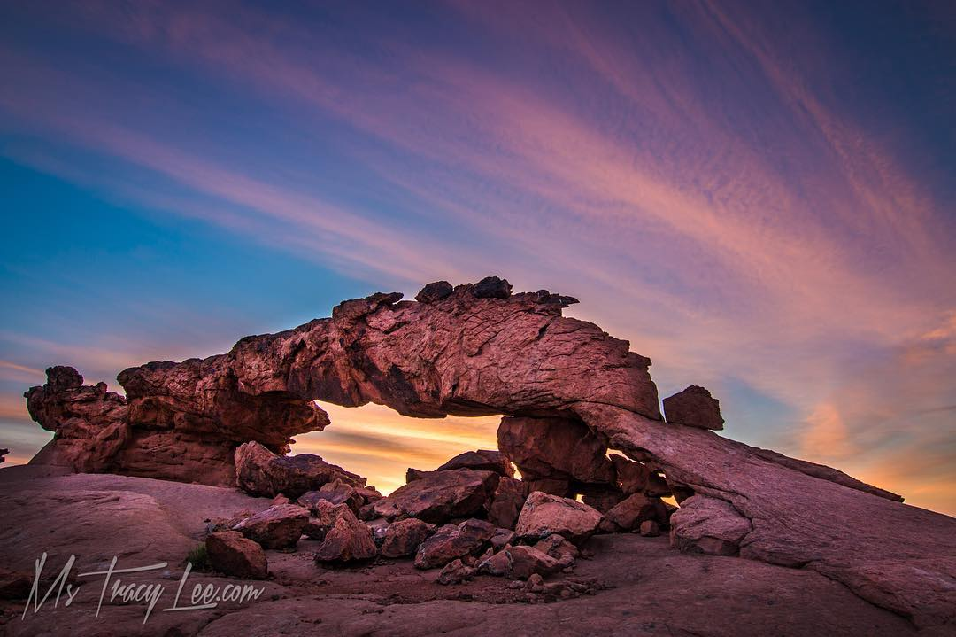 Sunrise at sunset arch after…