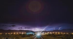 The lightning storm in Vegas...