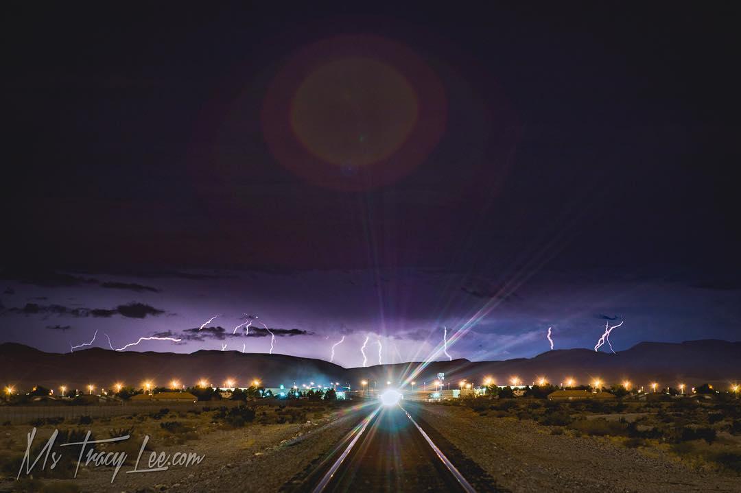 The lightning storm in Vegas…