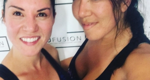 Sweaty me and @ambiec28 today...