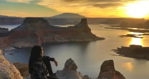 Catching sunrise over Lake Powell......