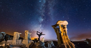 Dancer's pose on another planet!!...