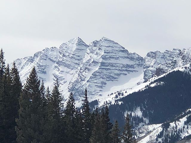 Maroon Bells from the #CloudNine…